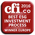 Winner of the CFI award 2016 - Best ESG Investment Process
