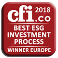 Winner of the CFI award 2018 - Best ESG Investment Process