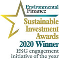 Winner of the Sustainable Investment Award 2020 - ESG engagement initiative of the year